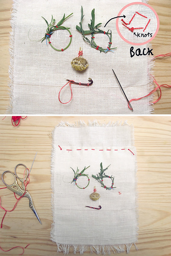 DIY Folk Art Nature Embroidery: Step 4