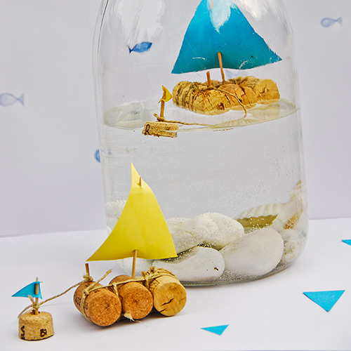 DIY Cork Sailboat In A Jar ⋆ Handmade Charlotte