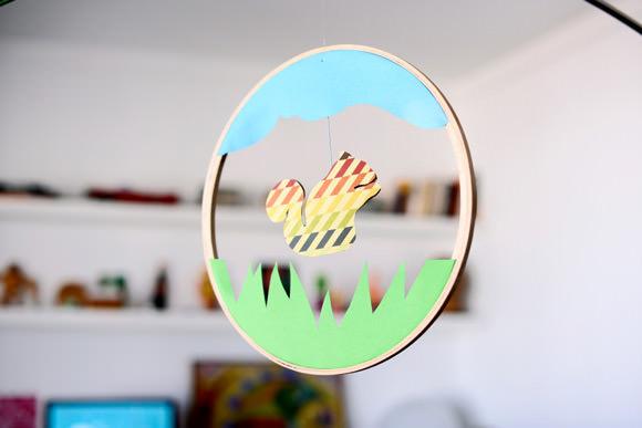 DIY Embroidery Hoop Mobile