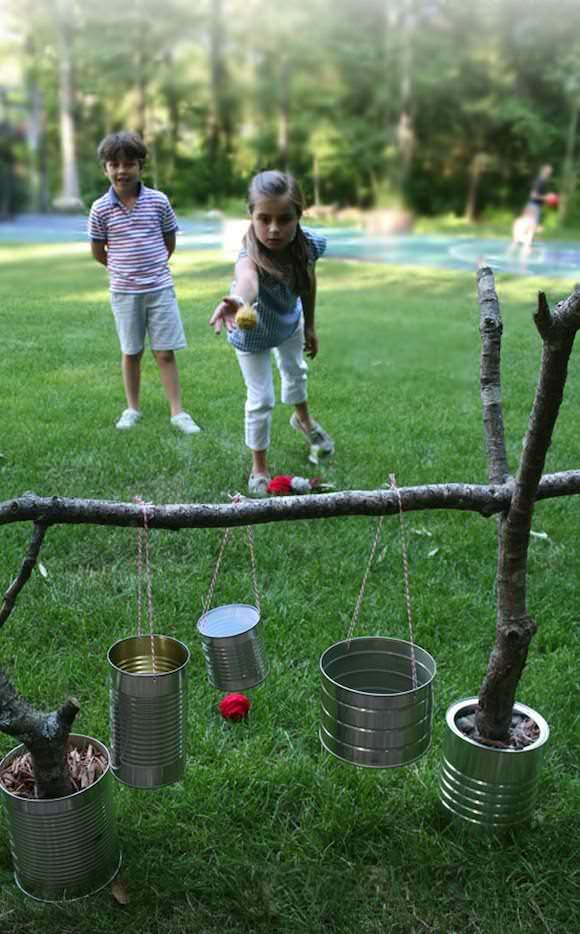 DIY Backyard Tiki Toss Game for Kids