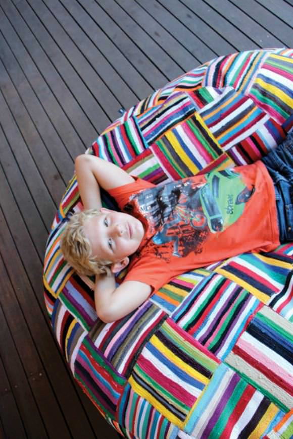 Handwoven South African Bean Bag by Ashanti Design