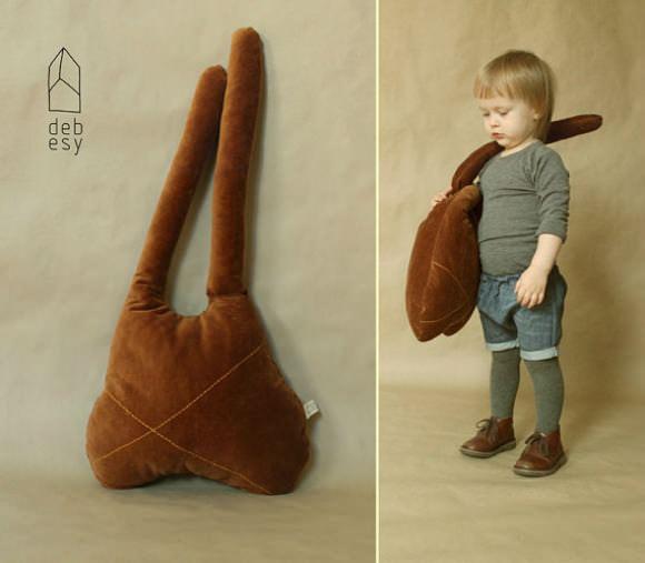 Big Rabbit Mummy Pillow by Debesy on Etsy