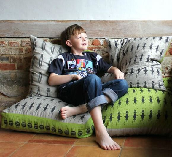 Insect Collection Bean Bag via Etsy