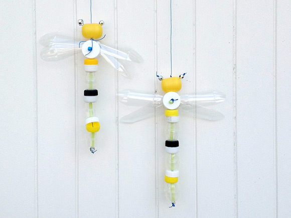DIY Recycled Bottle Cap Dragonfly