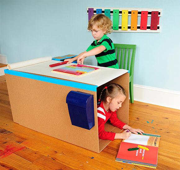 Diy pop up desk handmade charlotte for Escritorio infantil