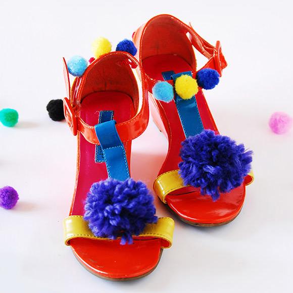 DIY Pom-Pom Sandals