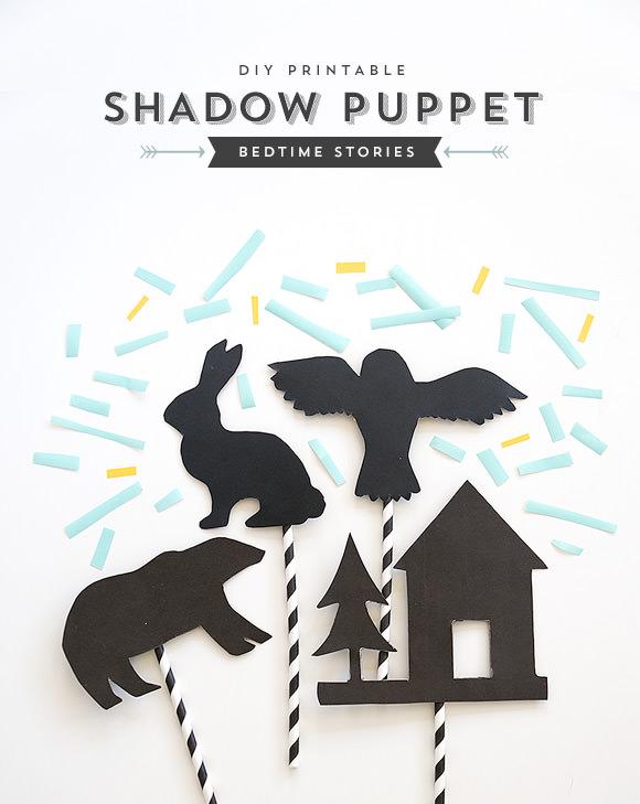 DIY Bedtime Story Shadow Puppets ⋆ Handmade Charlotte
