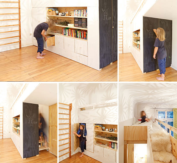 Loft House Design: The Swiss Army Knife Of Kids' Rooms ⋆ Handmade Charlotte