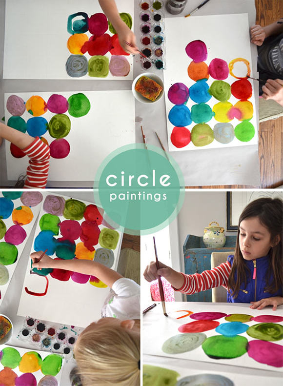 DIY Watercolor Circle Paintings