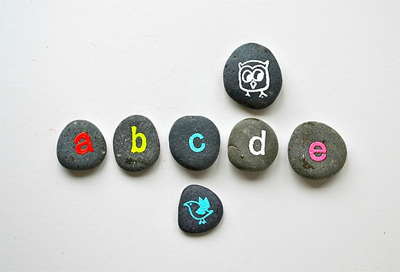 DIY Back To School Alphabet Rocks