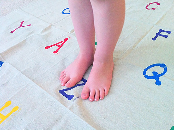 DIY Alphabet Stomp Mat