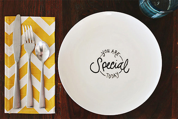"""You Are Special Today"" DIY Plate"