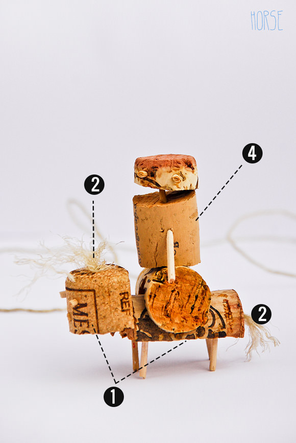 How To Make A DIY Cork Horse & Rider