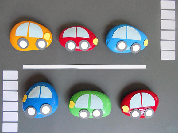DIY Rock Car Paperweights