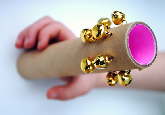 DIY Tubular Cardboard Bells for Kids