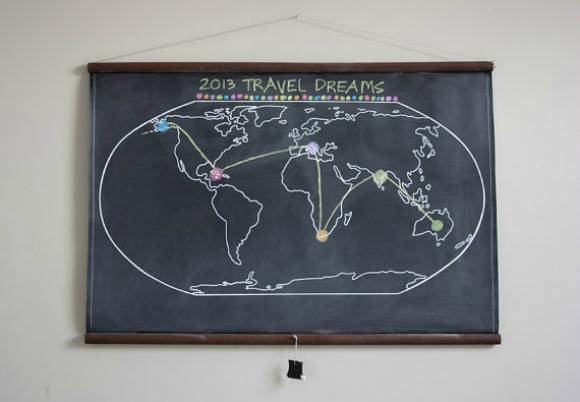 Large Chalkboard Wall Map via Etsy