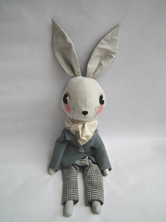 Handmade Bunny from Cloth & Thread