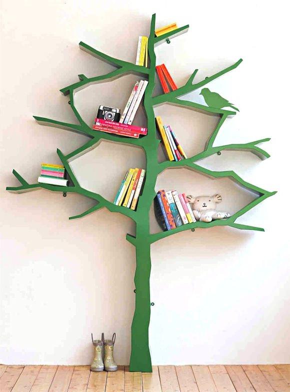 Bookshelf Ideas for Kids' Rooms // Tree Bookshelf