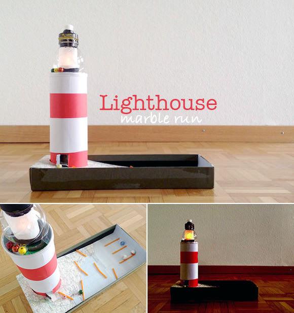 DIY Lighthouse Marble Run