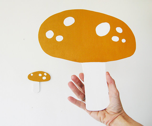 Yellow Mushrooms (via herman marie on etsy) - perfect wall art for a kid's room