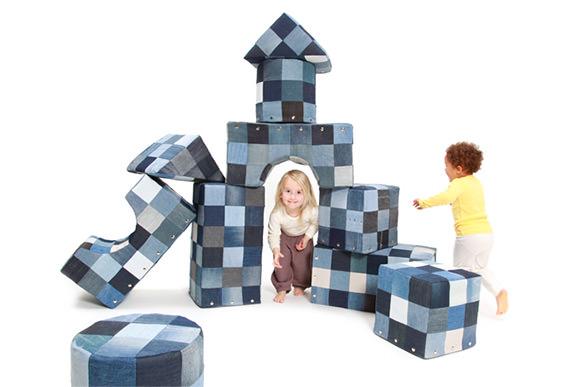 Patchwork Denim Play Blocks