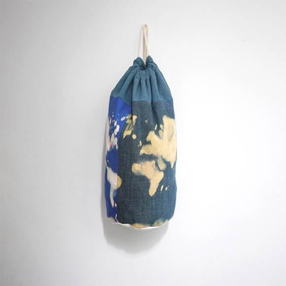 Denim World Map Duffel Bag
