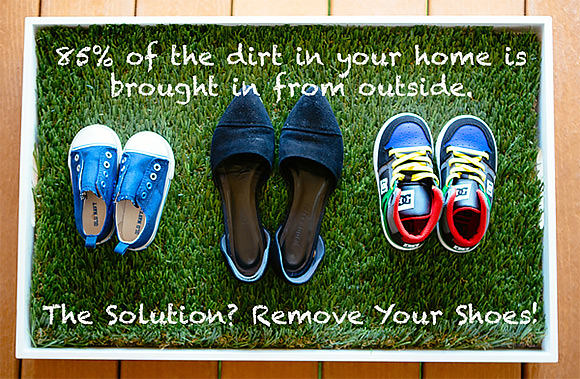 DIY Shoe Tray: Take Off Your Shoes & Stay Awhile
