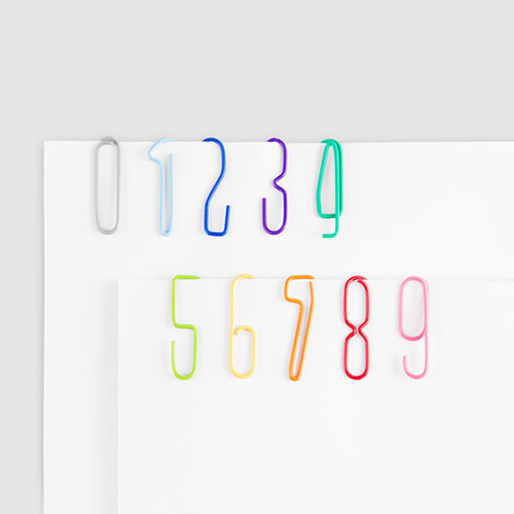 Fun School Supplies: Numberclips via moma store