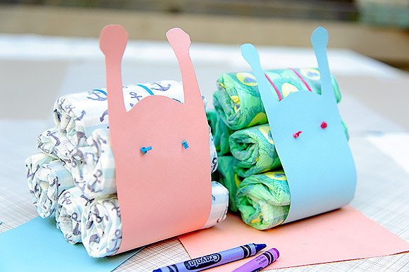 DIY Diaper Snails - a fun take on the traditional diaper cake for your next baby shower!