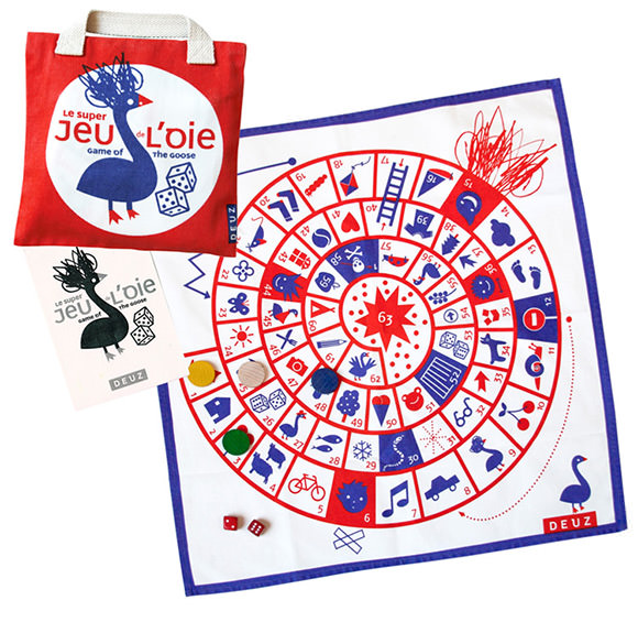The Goose Game & Travel Bag (Cloth Family Game)