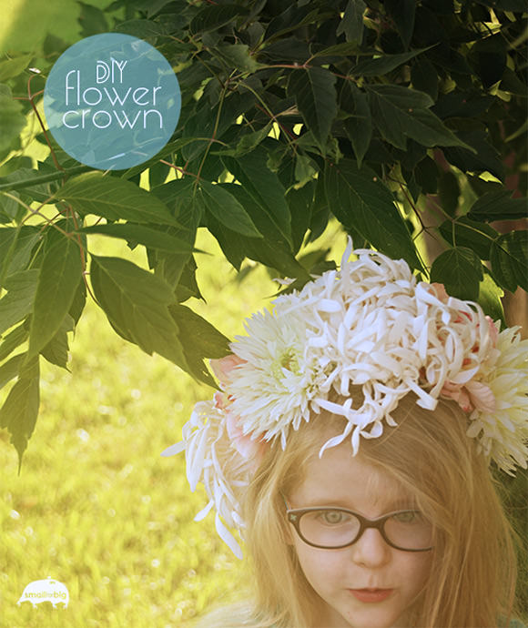 DIY Flower Crown // via small for big