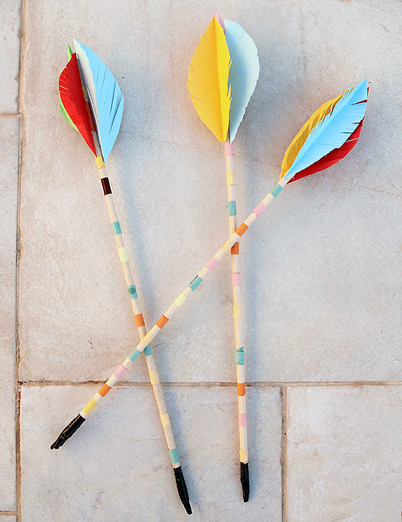 DIY Wooden Dowel Archery Arrows