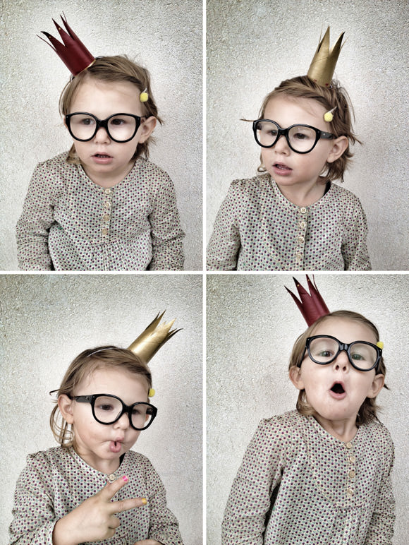 DIY Paper Roll Crown // via baby jungle