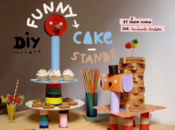 DIY Recycled Cake Stands for Kids