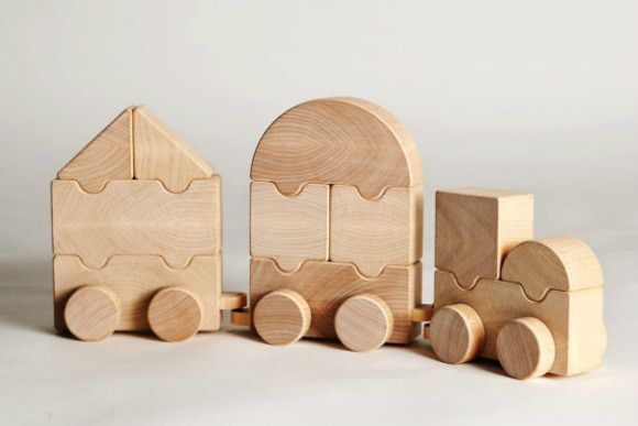 Folding Train Toy by Arboline