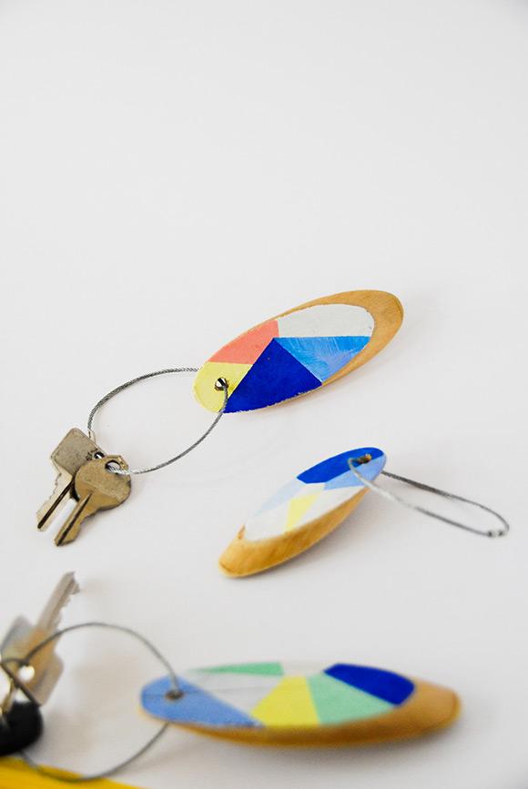 几何钥匙扣DIY