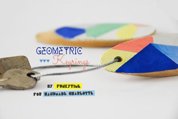 DIY Geometric Keyrings