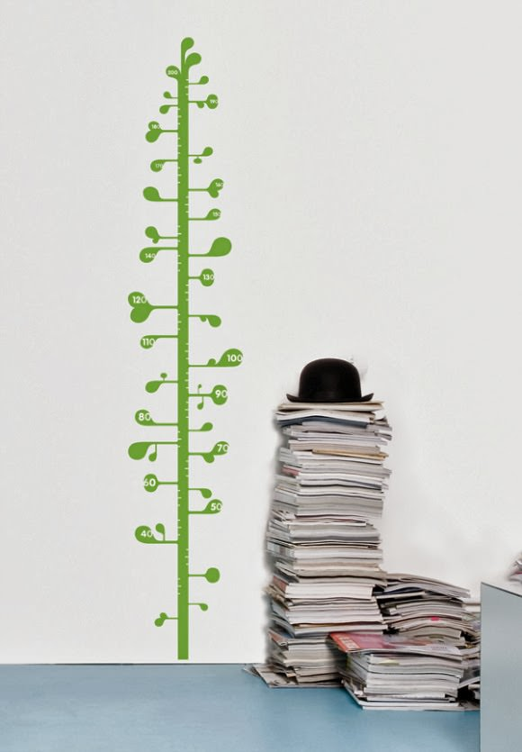Measuring Plant Growth Chart Decal - perfect for the kid's room or nursery!