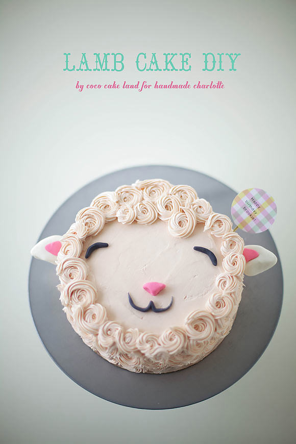 DIY Fluffy Lamb Cake Decorating Tutorial Handmade Charlotte