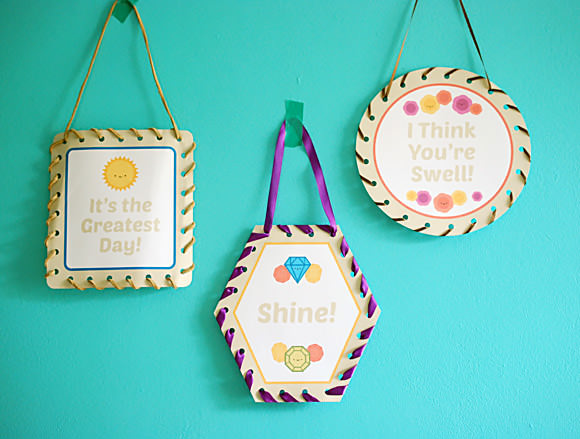 DIY Cheerful Lacing Art Printable for Kids