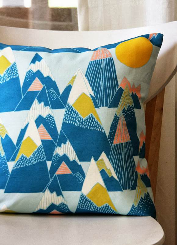 Mountain Pillow Cover by Leah Duncan