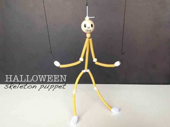 DIY Halloween Skeleton Puppet