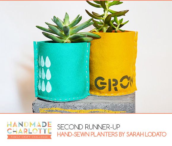 Handmade Charlotte Family Craft Challenge Second Runner-Up: Sarah Lodato