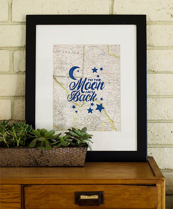 Family Craft Challenge Finalist: Stenciled Map Print (vote for your favorite project!)