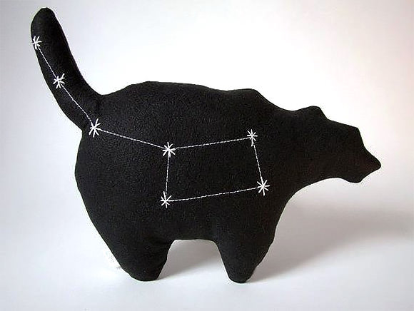 Ursa Minor Constellation Bear via etsy (hand-embroidered stars glow in the dark!)