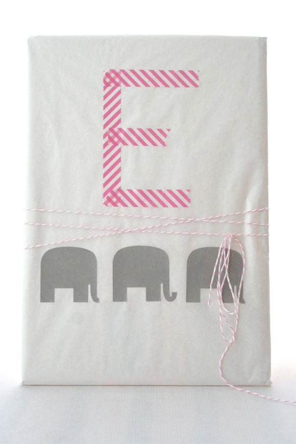 DIY Gift Wrap Ideas: Washi Tape Monogram