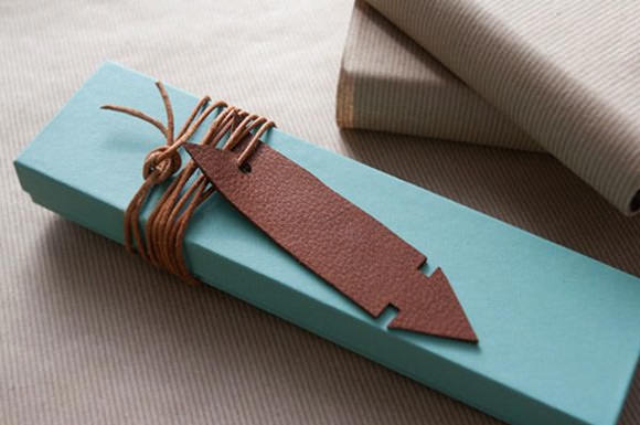 Family Craft Challenge Finalist: Leather Gift Tag (vote for your favorite project!)