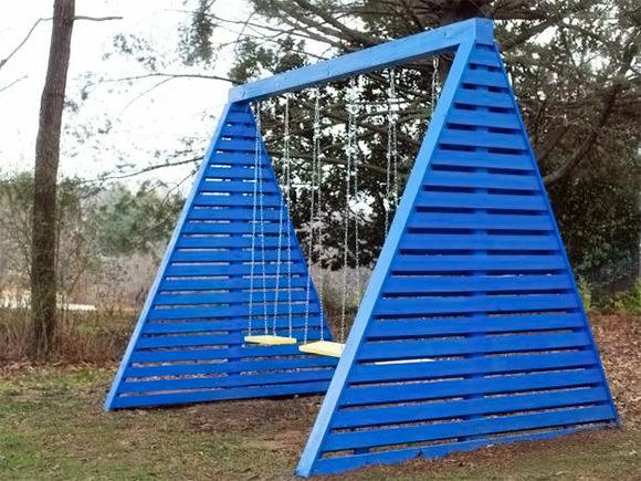DIY Modern A-Frame Swingset