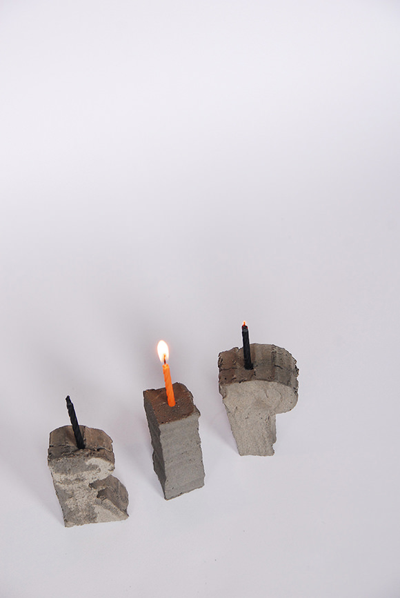 DIY Halloween Concrete Candle Holders