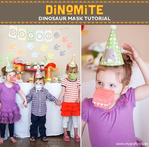 DIY Printable Dinosaur Masks